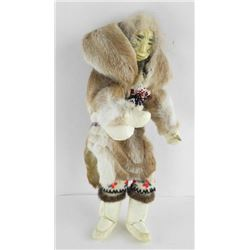 Original Handmade Doll - 'Caribou Fur and Leather'