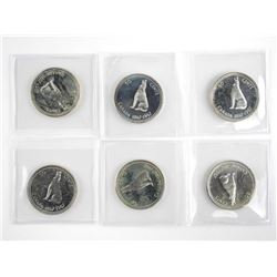 Lot (6) 1867-1967 Silver PL 50 Cent