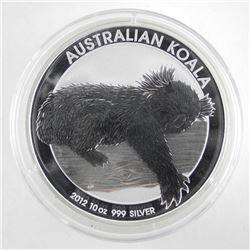.9999 Fine Silver Australian 'Koala' 2012 10oz ASW