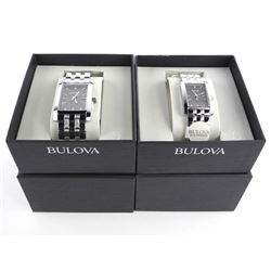 BULOVA Set His and hers Diamond Watches. MSR 480.0