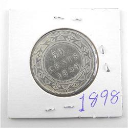 1898 Victoria Silver 50 Cent