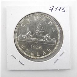 1936 Canada Silver Dollar George MS63x.