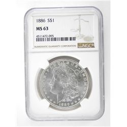 1886 USA Silver Morgan Dollar NGC. MS63.