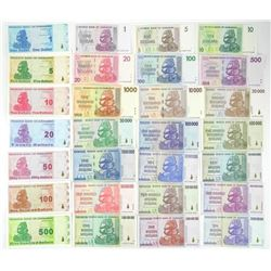65 Note Set - 100 Trillion Dollars Zimbabwe Collec