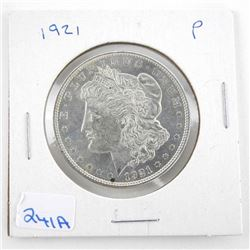 1921 (P) USA Silver Morgan Dollar MS61