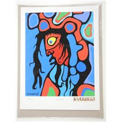 Norval Morrisseau (1931-2007) Serigraphic 'Picasso