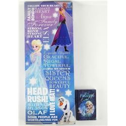 Disney .9999 Fine Silver Coin 'Elsa' Plus Canvas W