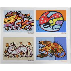 Norval Morrisseau (1931-2007) A Shaman's Vision F8