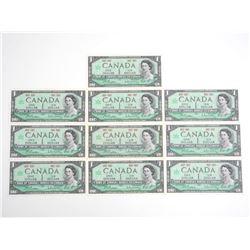 Lot (10) 1973 Canada $1.