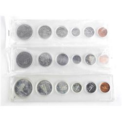 Lot (3) Canada Year Sets: 1968-1971 (67 - Silver)
