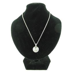 """Ladies MMcrystal Pendant and Chain 16"""" long with"""