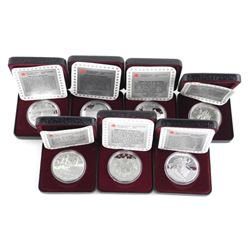 Lot (7) 925 Silver Proof Dollars, Includes 1997 Ho