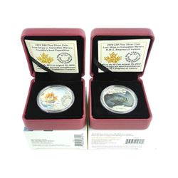 Lot (2) .9999 Fine Silver $20.0 Coins Lost Ships -