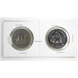 Lot (2) 1949 Canada Silver Dollars