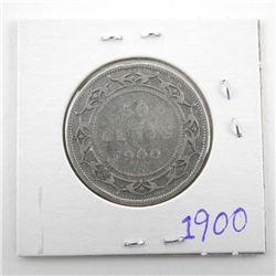1900 Victoria Silver 50 Cent