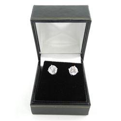 925 Silver 1 Carat Swarovski elements Stud Earring