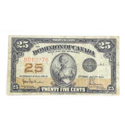 Dominion Bank of Canada 1923 Hyndman Authorized.