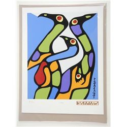 Norval Morrisseau (1931-2007) Serigraphic 'Loons'