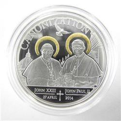 925 Silver Tanzania 1000 Shillings, 'Canonization'