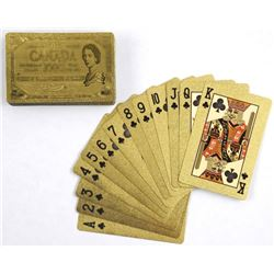 24kt Gold Leaf Playing Cards. Bank of Canada 1000.00 Note Design.