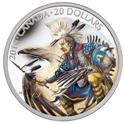$20 Fine Silver Coin - Legend of Nanaboozoo with Colourized Enamel. Issue Price: $99.95.