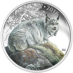 $20 Fine Silver Coin - The Commanding Canadian Lynx. Sold Out. Issue Price: $99.95.