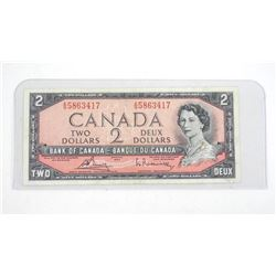Bank of Canada 1954 2.00 (AG) (MP) VF.