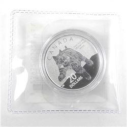 .9999 Fine Silver $20.00 Coin 'Bobcat'