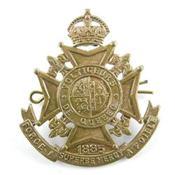 WWII Voltigeurs Quebec Cap Badge Made by Swilly Mt