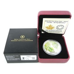 .9999 Fine Silver $20 Coin - Maple Canopy: Spring Splendour.