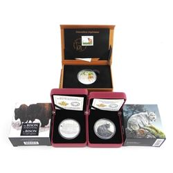 Group of (3) .9999 Fine Silver $20.00 Coins 'Lynx,