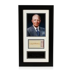 Dwight D. Eisenhower Signed Cut Display PSA Certified