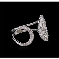1.34 ctw Diamond Ring - 14KT White Gold