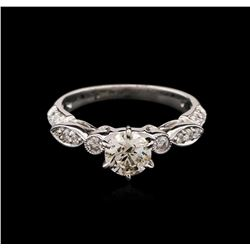 0.80 ctw Diamond Ring - 18KT White Gold