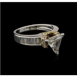 1.56 ctw Diamond Ring - 14KT White and Yellow Gold