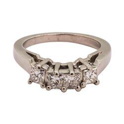 0.65 ctw Diamond Ring - Platinum