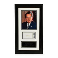 Richard Nixon Signed Cut Display PSA Certified