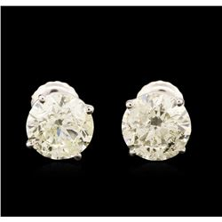 14KT White Gold 2.95 ctw Diamond Stud Earrings