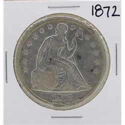 1872 $1 Seated Liberty Silver Dollar Coin