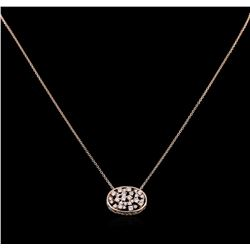 0.61 ctw Diamond Necklace - 14KT Rose Gold