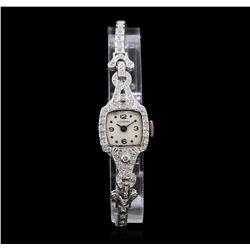 Lusserna for Macy's Platinum Diamond Vintage Ladies Watch