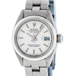Rolex Ladies Stainless Steel Silver Index Oyster Band 26MM Datejust Wristwatch
