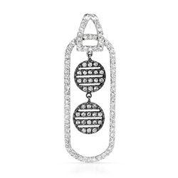18k White Gold 1.10CTW Diamond Pendant, (SI1-SI2/G-H)