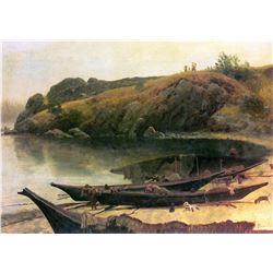 Canoes by Albert Bierstadt