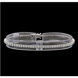 18KT White Gold 2.51 ctw Diamond Tennis Bracelet
