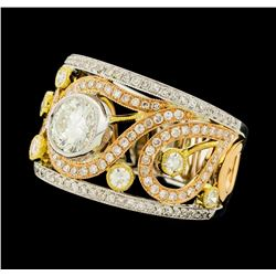 1.65 ctw Diamond Ring - 18KT Yellow, White, and Rose Gold