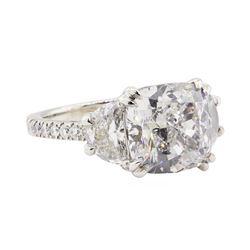 7.89 ctw GIA Certified Platinum Diamond Ring