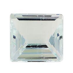 2.99 ct.Natural Square Step Cut Aquamarine