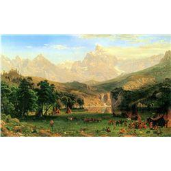 Rocky Mountains at Landers Peak by Albert Bierstadt