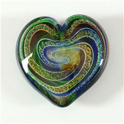 Heart of Fire (Golden Rainbow) by Glass Eye Studio
